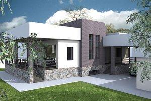 Современный индивидуальный жилой дом