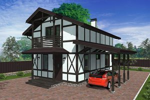 Проект небольшого жилого дома до 100м.кв.