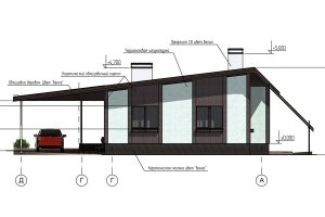 Проект одноэтажного жилого дома
