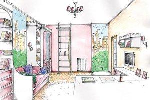 Эскизы интерьера жилых помещений
