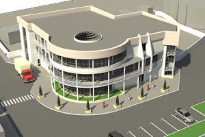 Эскизный проект торгово-развлекательного здания