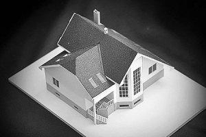 Макет индивидуального жилого дома