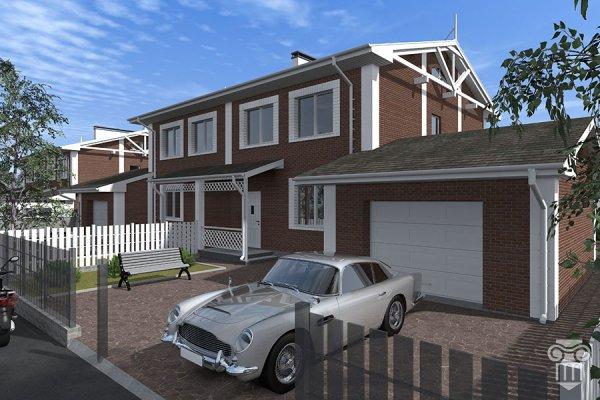 Проект двухквартирного жилого дома