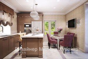 Кухня-столовая в современной классике