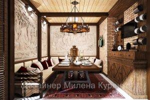 Интерьер загородного дома для отдыха