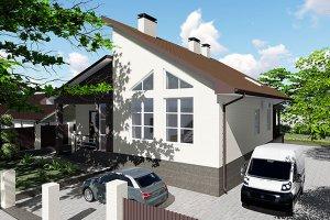 Проект двухэтажного жилого дома