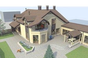 Индивидуальный жилой дом с бассейном