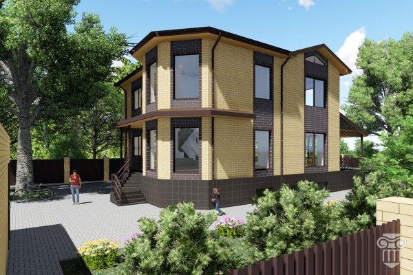 Проект двухэтажного жилого дома с цокольным этажом
