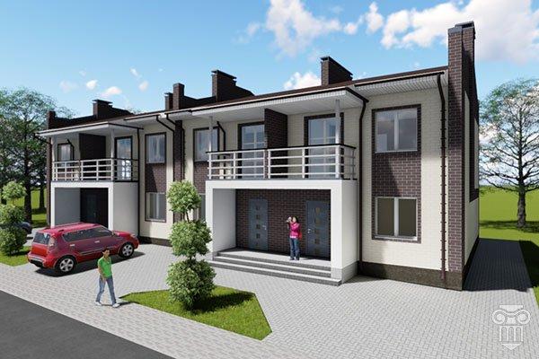 Блокированные жилые дома. Таунхаусы до 150м. кв.