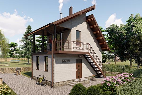 Проект небольшого дома для дачи